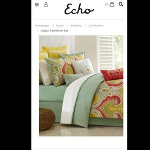 Echo Brand Jaipur TWIN Comforter and Sham Set